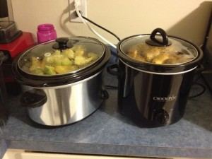Apple Butter Cooking In Crockpot