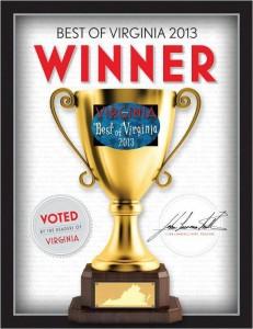 Best of Virginia, Virginia Living, 2013, Winner