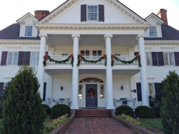 Warner Hall at Christmas