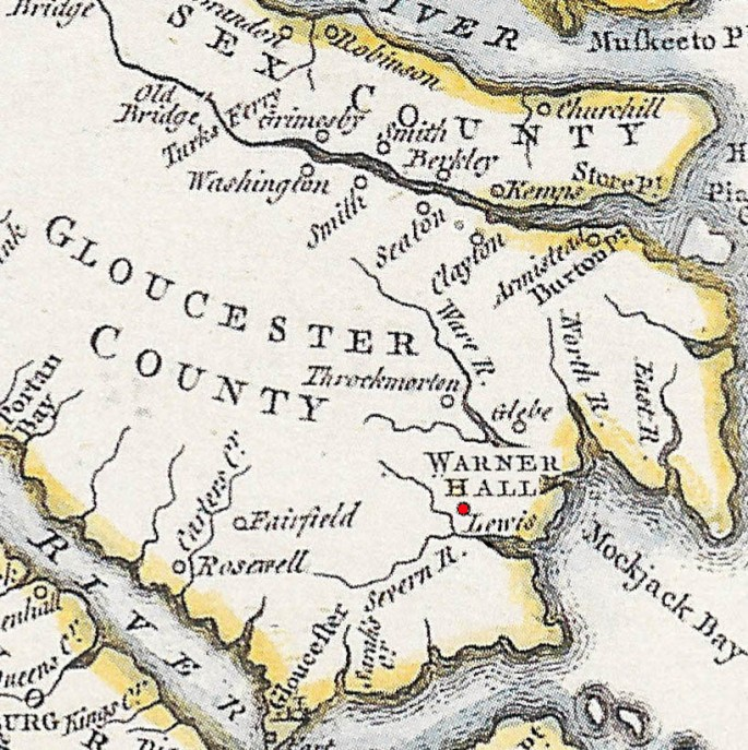 Old Gloucester County Map