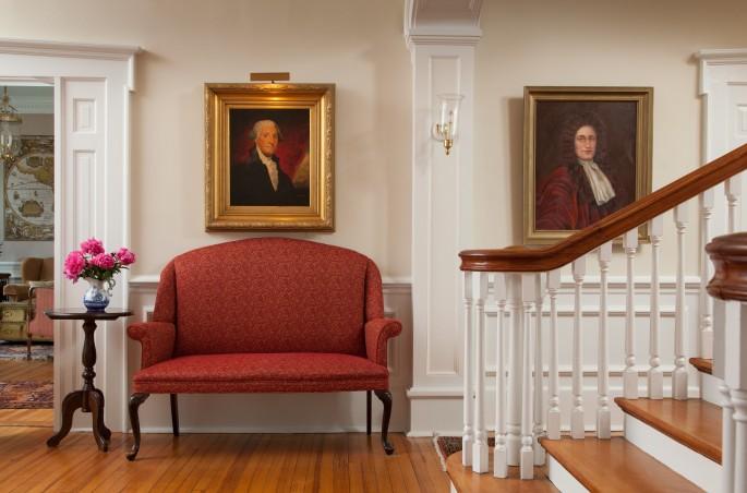 Portrait of George Washington in Warner Hall