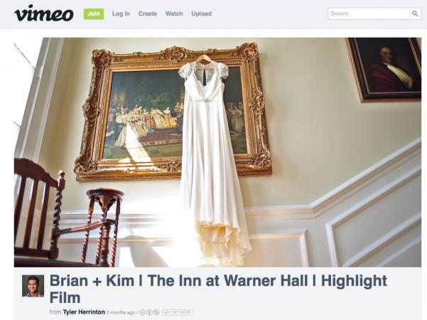 Warner Hall Wedding Video