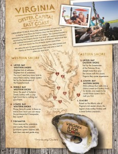 Virginia oyster trail map