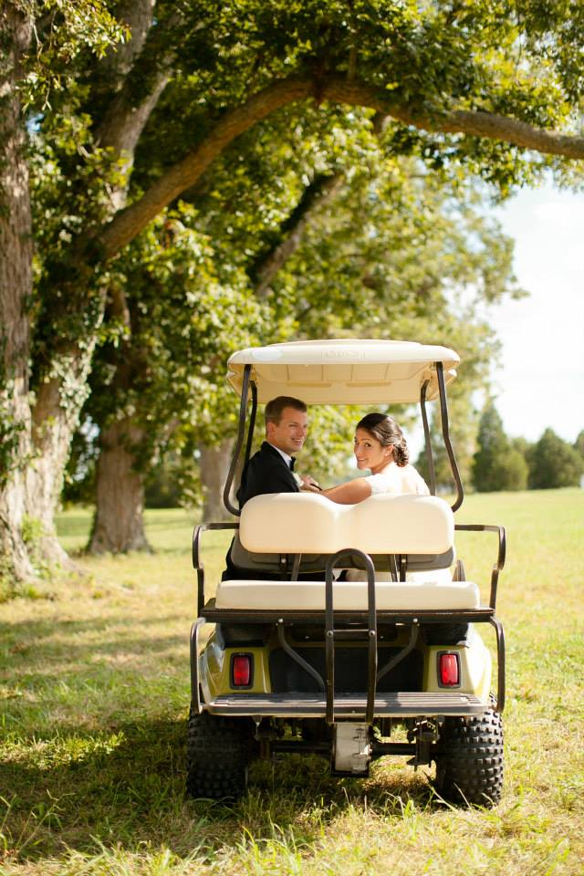 wedding Warner Hall golf cart3