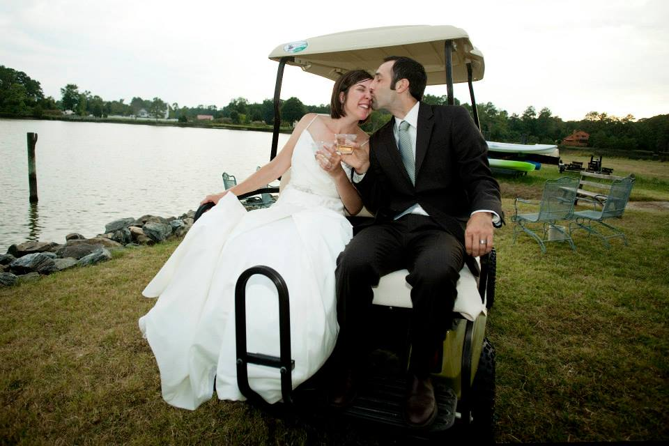 wedding Warner Hall golf cart5