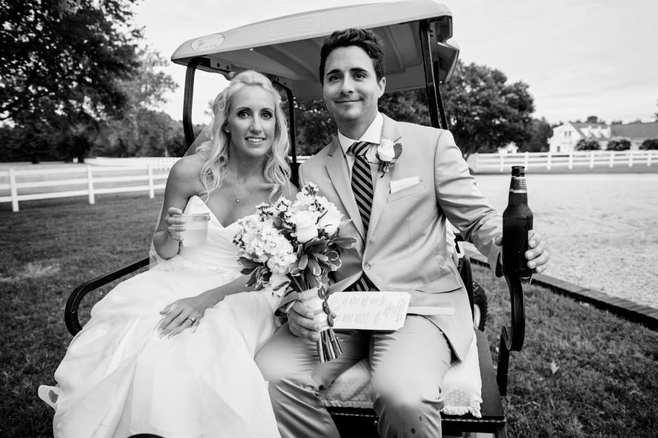 wedding Warner Hall golf cart6