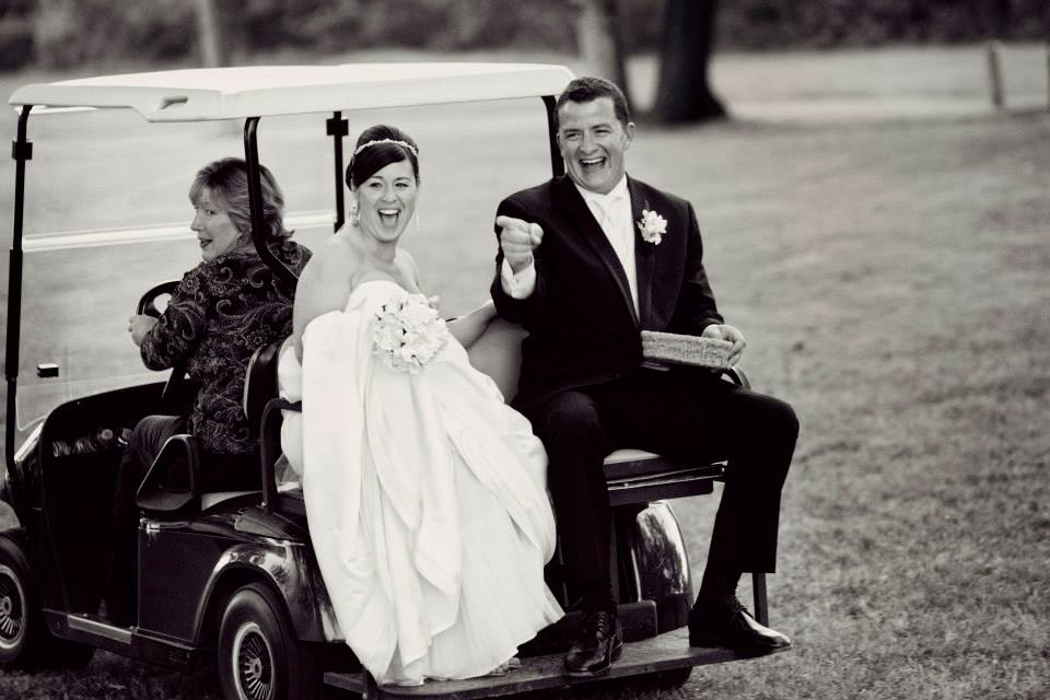 wedding Warner Hall golf cart7