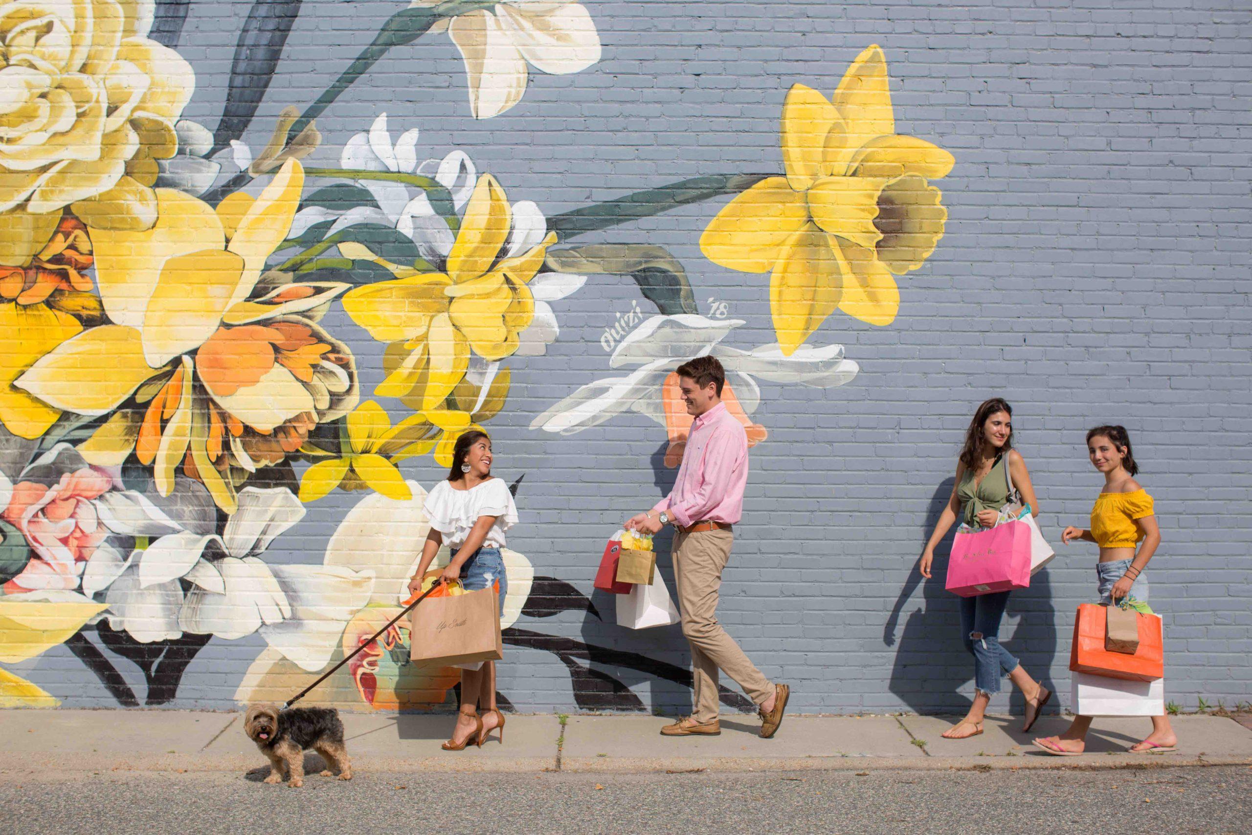 Gloucester Village Daffodil Mural